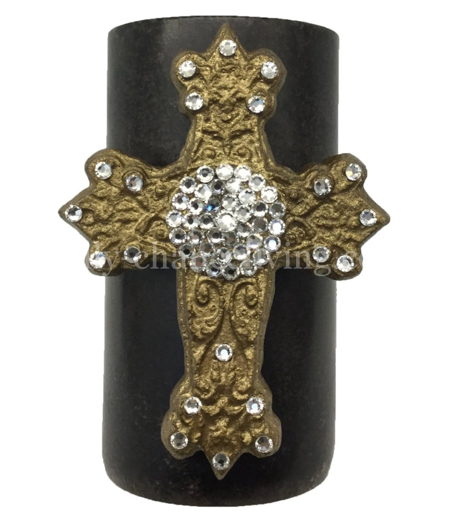 Triple_scented_candle-3x6-jeweled_cross-swarovski_crystals-sir_olivers-reilly_chance_collection