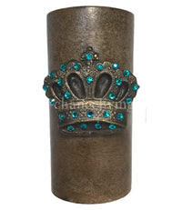 Decorative Candle 3x6 Fancy Jeweled Crown