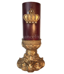 Triple_scented_candle-3x6-red-pomegranate-gold_jeweled_crown-candle_base-sir_olivers-reilly_chance_collection_grande