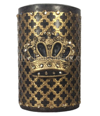 Decorative Candle 4x6 with  Jeweled Mesh and Crown