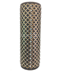 Decorative Candle 4x12 Swarovski Jeweled Mesh