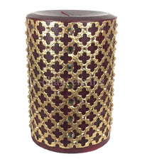 Decorative Candle 4x6 with Jeweled Mesh