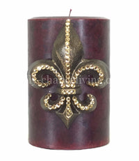 Decorative Candle 4x6 Medium Fleur de Lis
