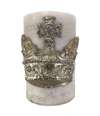 Decorative Candle 6x9 Large Jeweled Crown