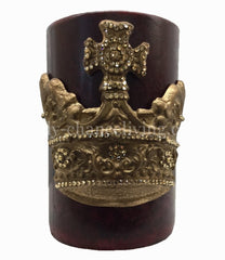 Triple_scented_decorative_red_candle-pomegranate-6x9-gold_swarovski_jeweled_large_crown-decorative_candles-sir_olivers-reilly_chance_collection_1_grande