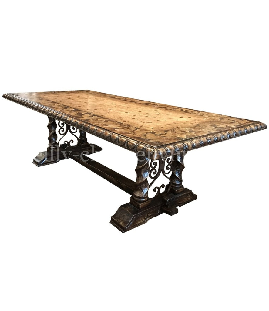 Tuscano_dining_table-_Peruvian_Dining_room_furniture-Peruvian_Home_furnishings_Handpainted_Wood_Dining_tables-madrid_dining_tables-bonita_furniture-Hacienda_style_furniture-italian_renaissance_furniture-reilly_chance