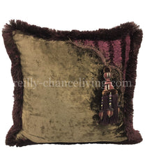 Designer Accent Pillow With Tassel 18X18