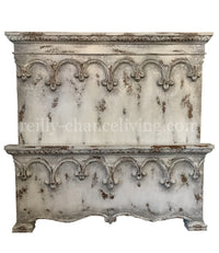 Versailles Peruvian Hand Crafted Wood King Size Bed FREE SHIPPING