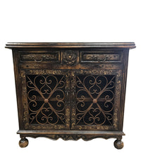 Peruvian Home Furnishings Vicenza Hand Painted Wood and Wrougt Iron Buffet FREE SHIPPING
