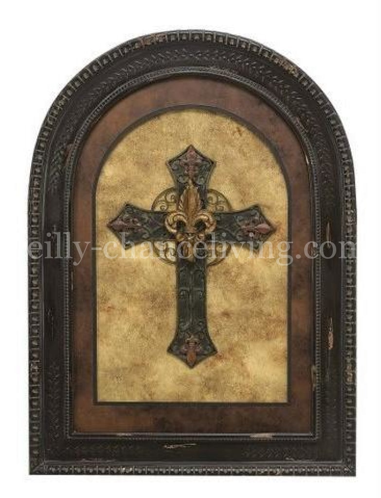 Visser_arched_frame_with_cross-Cross_wall_art-reilly_chance