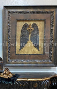 Visser Framed Angel Wings with Fleur De Lis