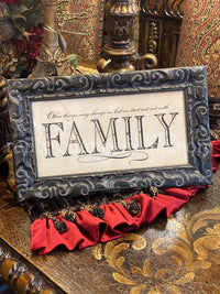 Visser Jeweled Framed Art Family Quote