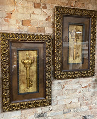 Visser_art-Visser_framed_keys_with_crystals-Old_world_decor-wall_art-tuscan_decor-reilly_chance