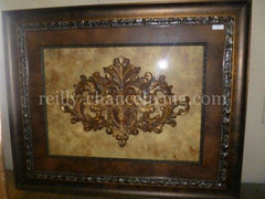 Visser Framed Scroll with Cross and Wings
