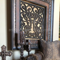 Visser Framed Art Square Scroll Panel
