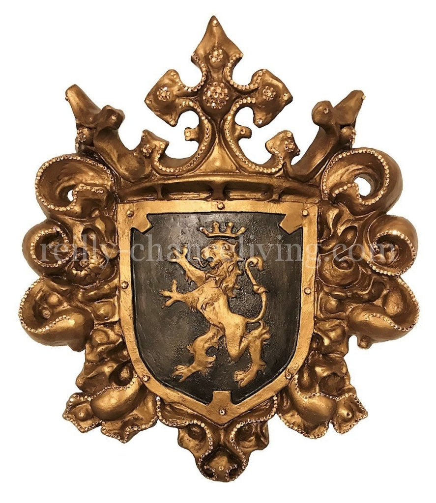 Wall_decor-jeweled_shield_with_lion-swarovski_crystals-old_world_decor-large_wall_shield-Large_wall_crest-old_world_wall_shield-reilly_chance_collection