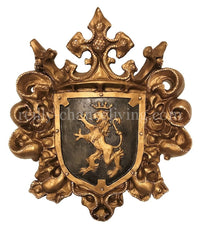 Large Jeweled Wall Decor Shield with Lion 21