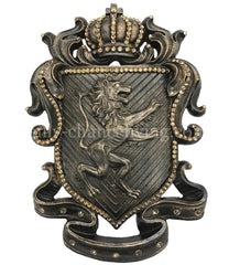 Drapery Medallion Lion with Crown Shield