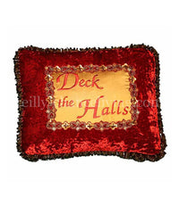 Deck the Halls Christmas Pillow