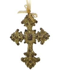 Christmas Ornament Jeweled Ornate Cross