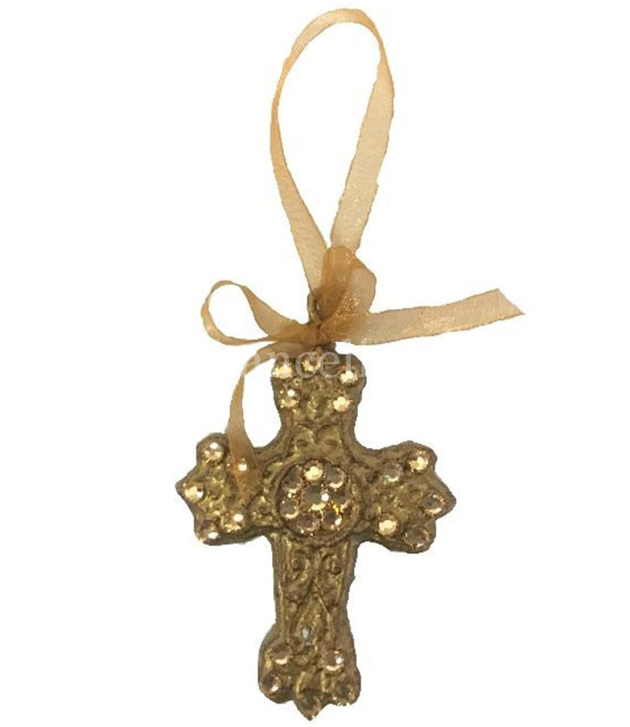 Christmas Ornament Jeweled Small Celtic Cross Ornaments