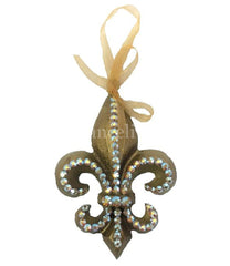Christmas Ornament Jeweled Fleur De Lis Ornaments