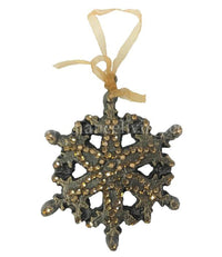 Christmas Ornament Jeweled Scroll Snowflake
