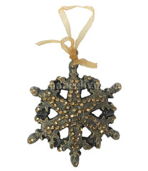 Christmas Ornament Jeweled Scroll Snowflake Ornaments