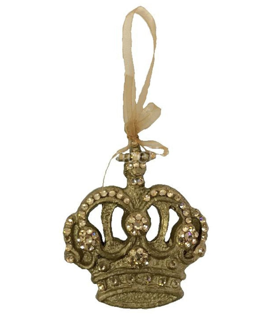 Christmas Ornament Jeweled Scroll Crown Ornaments