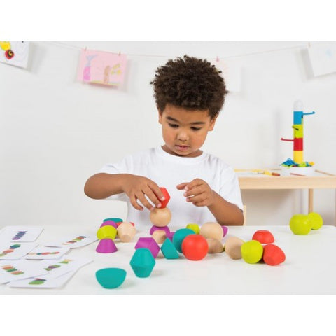wooden towering beads sensory toy melbourne