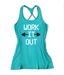 Sweat more bitch less Women's Fitness Tank Top -X 034
