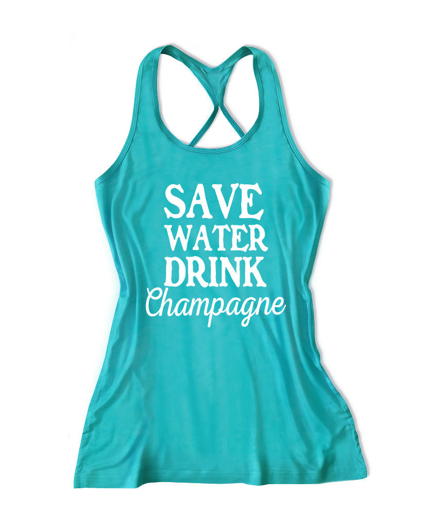 Save water drink champagne Women