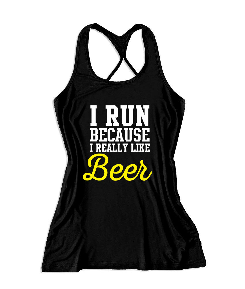I run because I really like beer Women