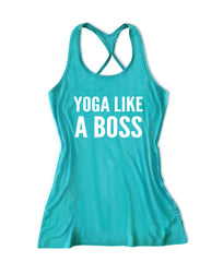 Yoga like a boss Women's Yoga Tank Top -X 1063