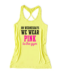 On wednesdays we wear pink to the gym Women's Fitness Tank Top -X 1080