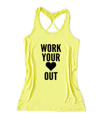 Work your heart out Women's Fitness Tank Top -X 1093