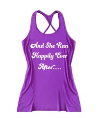 And she ran hapily ever after Women's Fitness Tank Top -X 1180