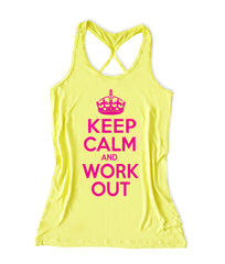 Keep calm and work out Women's Fitness Tank Top -X 251