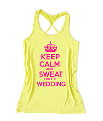 Keep calm and sweat for the weddinng  Women's Bridal Tank Top -X 261