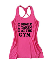 Single taken at the gym Women's Fitness Tank Top -X 520
