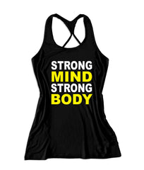Strong mind strong body Women's Fitness Tank Top -X 548