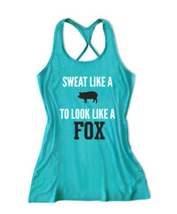 Sweat like a to look like a fox Women's Fitness Tank Top -X 584