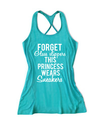 Foget glass slippers this princess wears sweakers Women's Running Tank Top -X 651