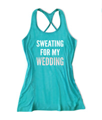 Sweating for the wedding Women's Bridal Tank Top -X 708