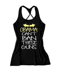 Obama can't ban these guns Women's Fitness Tank Top -X 730