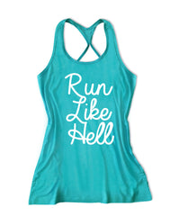Run like hell Women's Running Tank Top -X 829