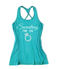 Sweating for the ring Women's Bridal Tank Top -X 840