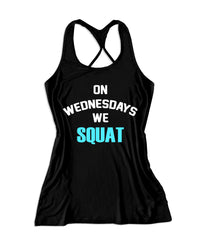 On wednesdays we squat Women's Fitness Tank Top -X 963