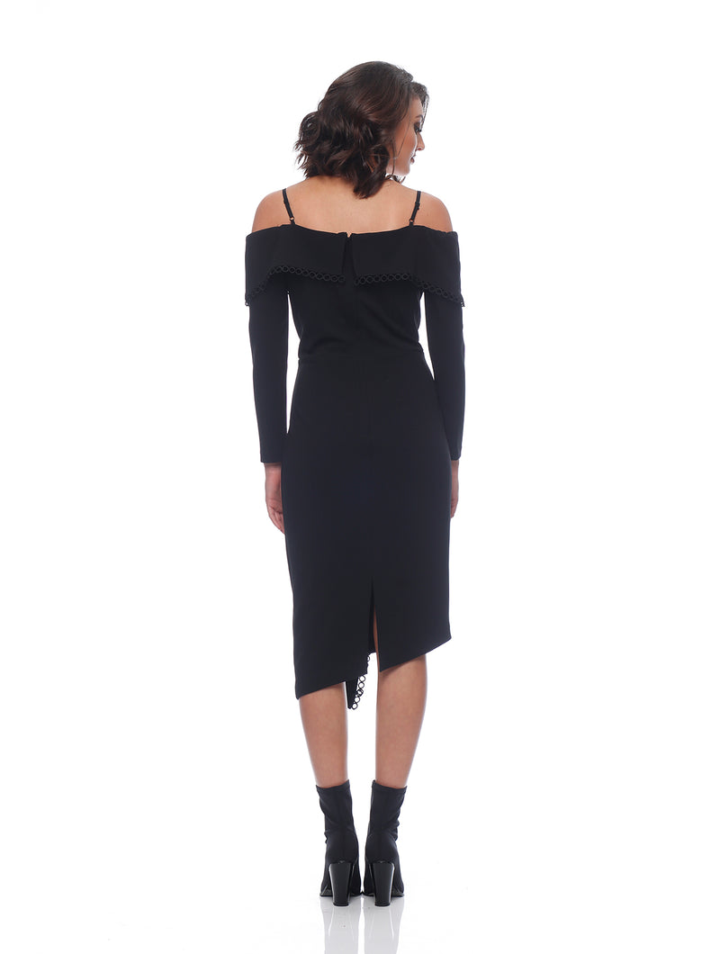 Elora Long Sleeve Wrap Midi