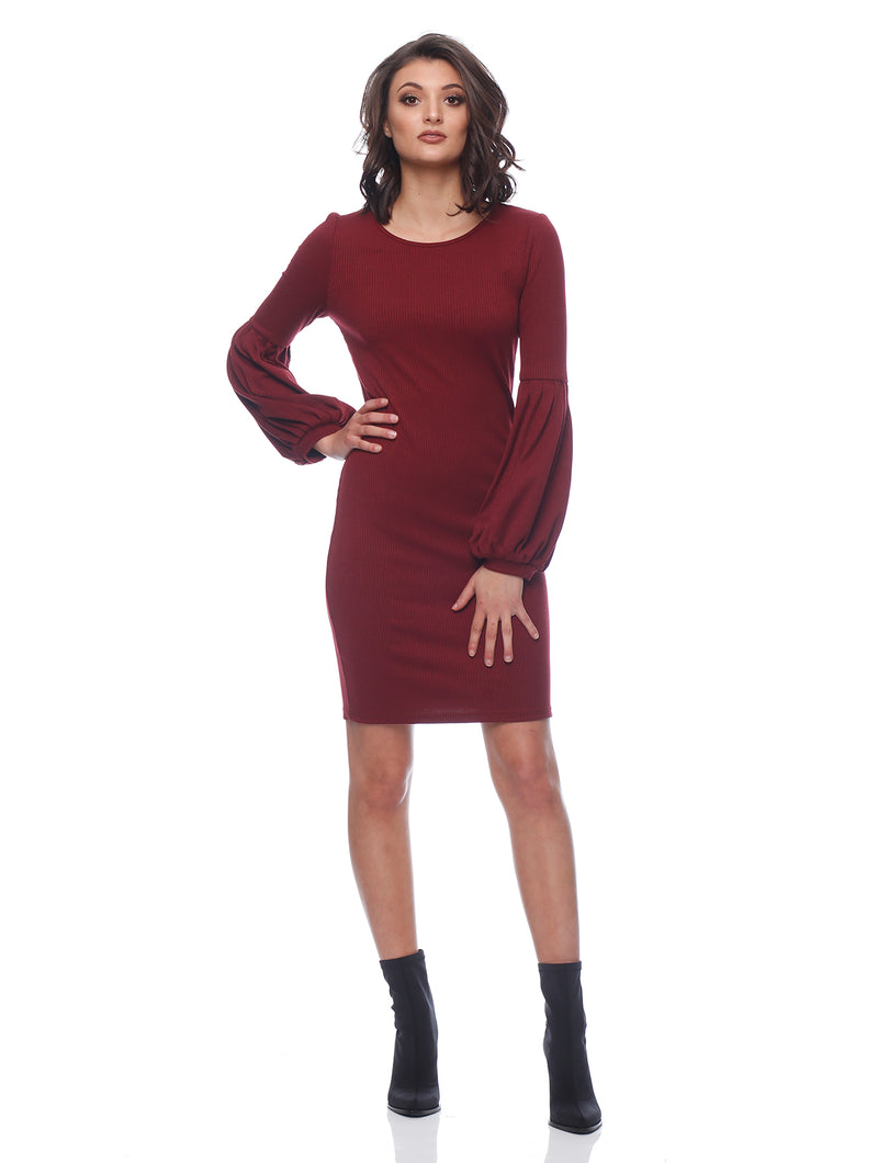 Teagan Balloon Sleeve Midi Dress